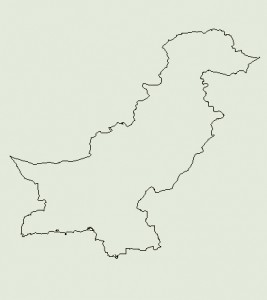 Landkarte von Pakistan