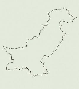 Landkarte von Pakistan